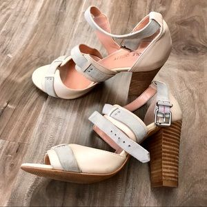 Nude grey and rose heels